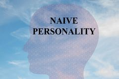 Naive Personality concept Royalty Free Stock Photos