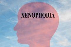 XENOPHOBIA - mental concept vector illustration