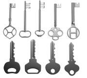 Render of keys Royalty Free Stock Image