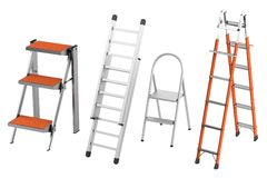 Render of ladders Royalty Free Stock Image