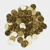 Render of Large Pile of Coins. 3D Render of Large Pile of Coins Stock Photography