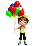 Render of Little boy with baloon Stock Photography