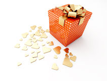 Render with love. Render gift made with love Royalty Free Stock Image