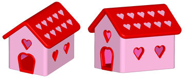 Render: love house Royalty Free Stock Images