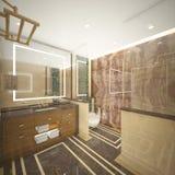 Render of the luxury toilet Royalty Free Stock Photo