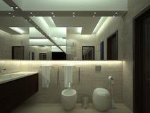 Render of luxury toilet Royalty Free Stock Photo