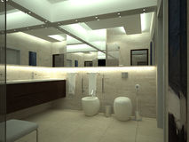 Render of luxury toilet Royalty Free Stock Photography