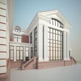 Render of the mansion Stock Photography