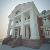 Render of the mansion Royalty Free Stock Images