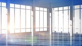 Render modern empty interior office Stock Photography