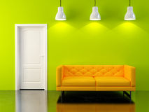 Render modern interior Royalty Free Stock Photos