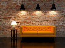 Render modern interior Stock Photo