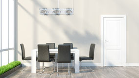 Render modern interior Royalty Free Stock Photo