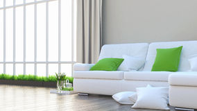 Render modern interior Stock Photo