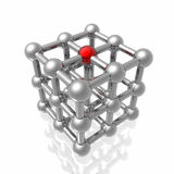 Render of molecular structure Royalty Free Stock Photo