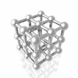 Render of molecule Stock Photography
