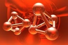 Render of molecule Stock Photography