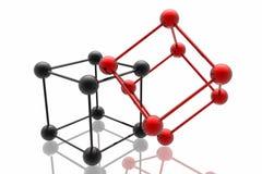 Render of molecule Royalty Free Stock Images