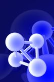 Render of molecule Stock Image