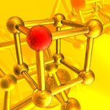 Render of molecule Royalty Free Stock Image