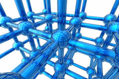Render of molecule Stock Photo