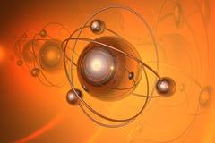 Render of molecule stock illustration
