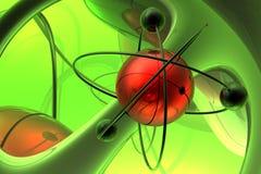 Render of molecule royalty free illustration