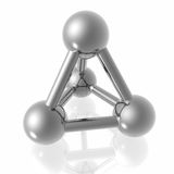 Render of molecule Royalty Free Stock Photography