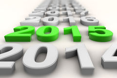 Render of the new year 2015 in green Stock Image