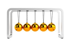 Render of newton cradle Stock Photos
