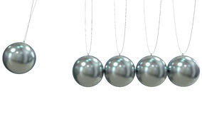 Render of a Newton Pendulum on white background Stock Photo