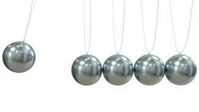 Render of a Newton Pendulum on white background Stock Photo