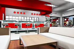 Render Of A Cafe Bar Royalty Free Stock Photography