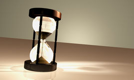 Render Of An Alone Sandglass Stock Photography
