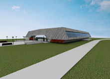 Render Of Sport Hall Royalty Free Stock Photos