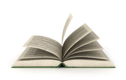 Render of one open book. 3d render of one open book on a white background Royalty Free Stock Image