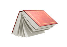 Render of one open book. 3d render of one open book on a white background Stock Photo