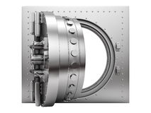 Render of an open vault door Stock Image