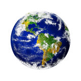 Render of planet Earth. Render of Earth with the focus on the Americas stock illustration
