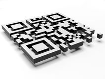 Render of QR code. On white background Stock Images