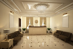 Render of the reception hall Stock Photography