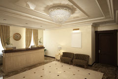 Render of the reception hall Royalty Free Stock Image