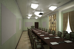 Render of the reception hall Royalty Free Stock Photos