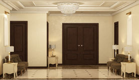 Render of the reception hall Royalty Free Stock Photography