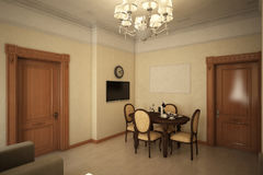 Render of the recreation room Stock Photos