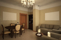 Render of the recreation room Stock Image