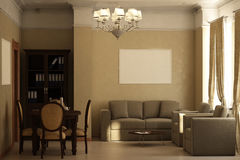 Render of the recreation room Royalty Free Stock Photography