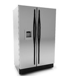 Render of a refrigerator Royalty Free Stock Images