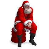 Render of Santa Claus - Merry Xmas Stock Photos