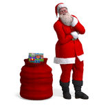 Render of Santa Claus - Merry Xmas Royalty Free Stock Image